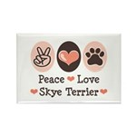 Peace Love Skye Terrier Rectangle Magnet (10 pack)