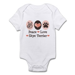 Peace Love Skye Terrier Infant Bodysuit