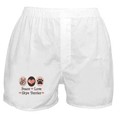 Peace Love Skye Terrier Boxer Shorts