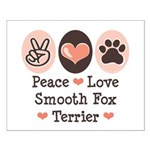 Peace Love Smooth Fox Terrier Small Poster