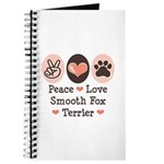 Peace Love Smooth Fox Terrier Journal