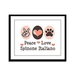 Peace Love Spinone Italiano Framed Panel Print