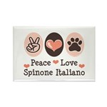 Peace Love Spinone Italiano Rectangle Magnet (10 p