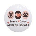 Peace Love Spinone Italiano Ornament (Round)