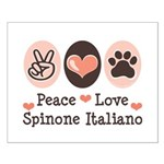 Peace Love Spinone Italiano Small Poster