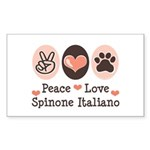 Peace Love Spinone Italiano Rectangle Sticker