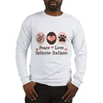 Peace Love Spinone Italiano Long Sleeve T-Shirt