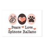 Peace Love Spinone Italiano Postcards (Package of
