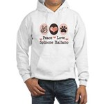 Peace Love Spinone Italiano Hooded Sweatshirt
