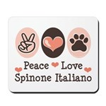 Peace Love Spinone Italiano Mousepad