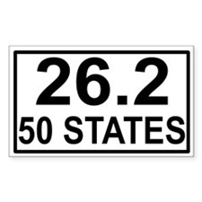 50 Stater Rectangle Decal