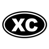 XC Cross Country Black Euro Oval Decal