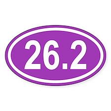 26.2 Marathon Purple Euro Oval Decal