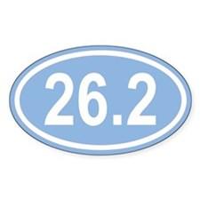 26.2 Marathon Carolina Blue Euro Oval Decal