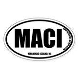 MACKINAW ISLAND, MI Oval Decal