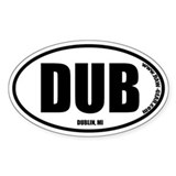DUBLIN, MI Oval Decal