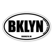 BROOKLYN, MI Oval Decal