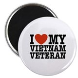 I Love My Vietnam Veteran Magnet