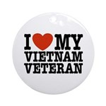 I Love My Vietnam Veteran Ornament (Round)