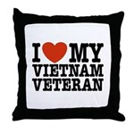 I Love My Vietnam Veteran Throw Pillow