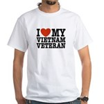 I Love My Vietnam Veteran White T-Shirt