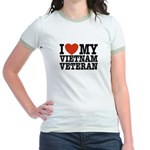 I Love My Vietnam Veteran Jr. Ringer T-Shirt