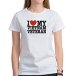 I Love My Vietnam Veteran Women's T-Shirt