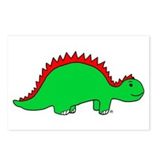 Smiling Green Stegosaurus Postcards (Package of 8)