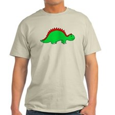 Smiling Green Stegosaurus T-Shirt