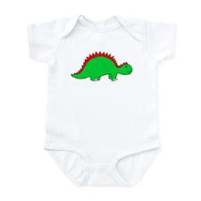 Smiling Green Stegosaurus Infant Bodysuit