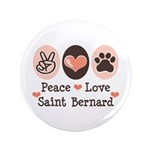 Peace Love Saint Bernard 3.5