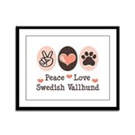 Peace Love Swedish Vallhund Framed Panel Print