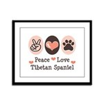 Peace Love Tibetan Spaniel Framed Panel Print