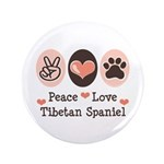 Peace Love Tibetan Spaniel 3.5