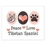 Peace Love Tibetan Spaniel Small Poster
