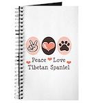 Peace Love Tibetan Spaniel Journal
