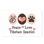 Peace Love Tibetan Spaniel Postcards (Package of 8