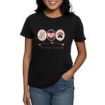 Peace Love Tibetan Spaniel Women's Dark T-Shirt