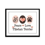 Peace Love Tibetan Terrier Framed Panel Print
