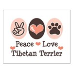 Peace Love Tibetan Terrier Small Poster