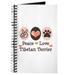 Peace Love Tibetan Terrier Journal
