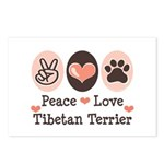 Peace Love Tibetan Terrier Postcards (Package of 8