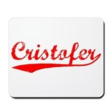 Vintage Cristofer (Red) Mousepad