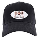 Peace Love Toy Fox Terrier Black Cap