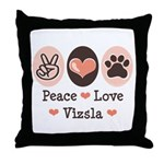 Peace Love Vizsla Throw Pillow
