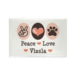 Peace Love Vizsla Rectangle Magnet (10 pack)