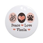 Peace Love Vizsla Ornament (Round)