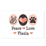 Peace Love Vizsla Postcards (Package of 8)