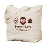 Peace Love Vizsla Tote Bag