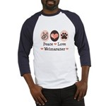 Peace Love Weimaraner Baseball Jersey